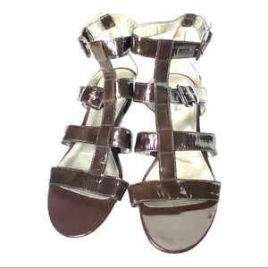 Kenneth Cole Reaction Brown Patent Leather Sandals